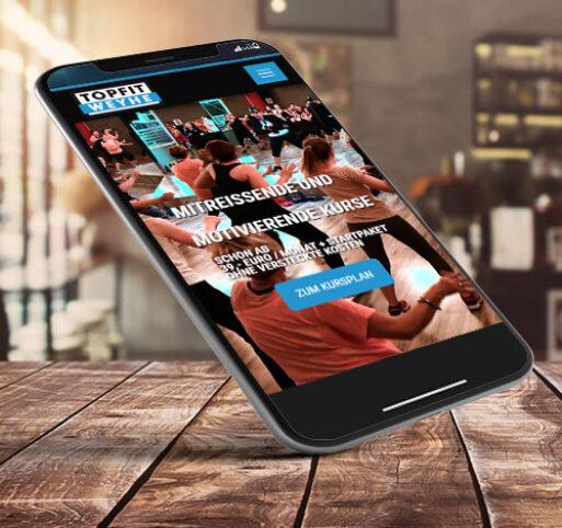 Webseite optimiert fürs Handy